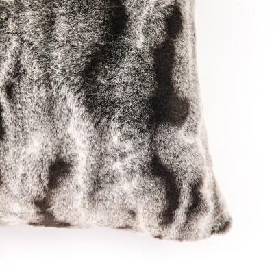 "18""x18"" Faux Rabbit Fur Ombre Throw Pillow - EVERGRACE : Target"