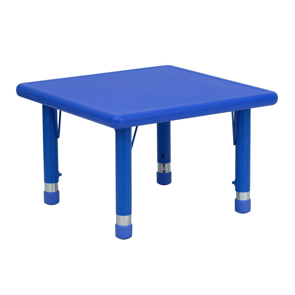 Image of Flash Furniture Square Activity Table Blue - Belnick