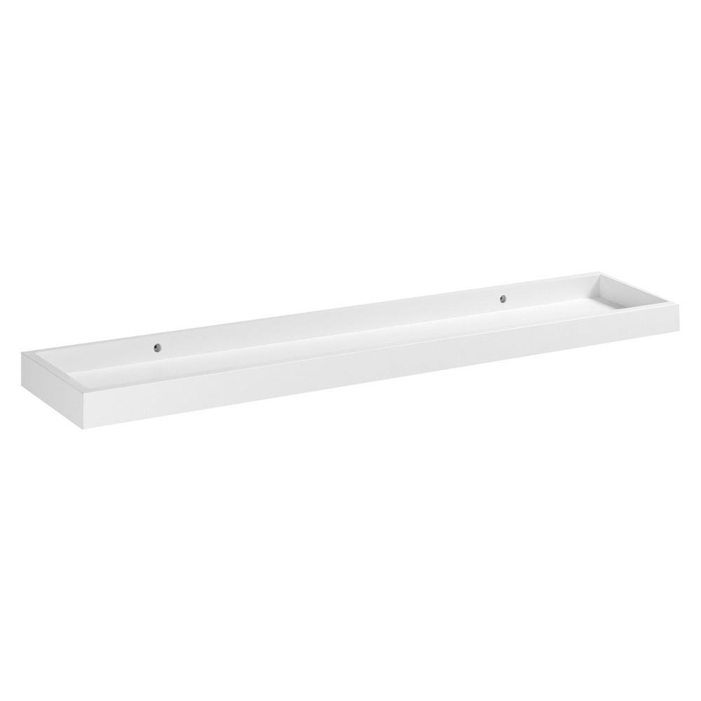 "Image of ""Loggia Shelf with Rim - White 32"""""""