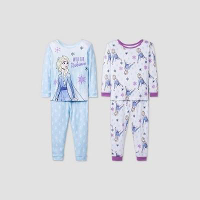 Toddler Girls' 4pc Frozen 2 Pajama Set - Blue 4T
