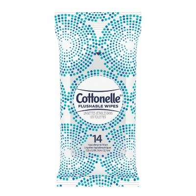 Cottonelle Flushable On-The-Go Travel Wet Wipes - 24ct