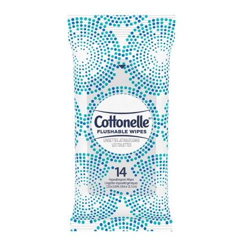Cottonelle Flushable On-The-Go Travel Wet Wipes - 24ct - image 1 of 4