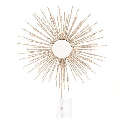 Unlit Mirror Sun Burst Christmas Tree Topper Gold - Wondershop™