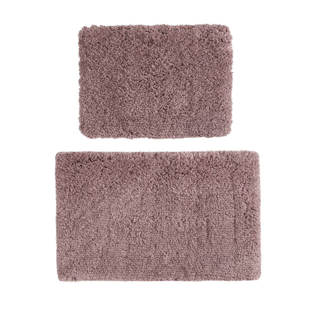 "Image of ""17""""x24"""" 2pc Juno Tufted Solid Bath Rug Set Purple"""