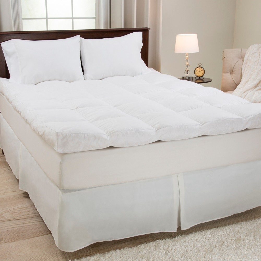 Down & Duck Feather 4 Gusset Mattress Topper (King) White - Yorkshire Home