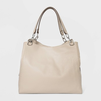 Zip Closure Hobo Handbag - A New Day™