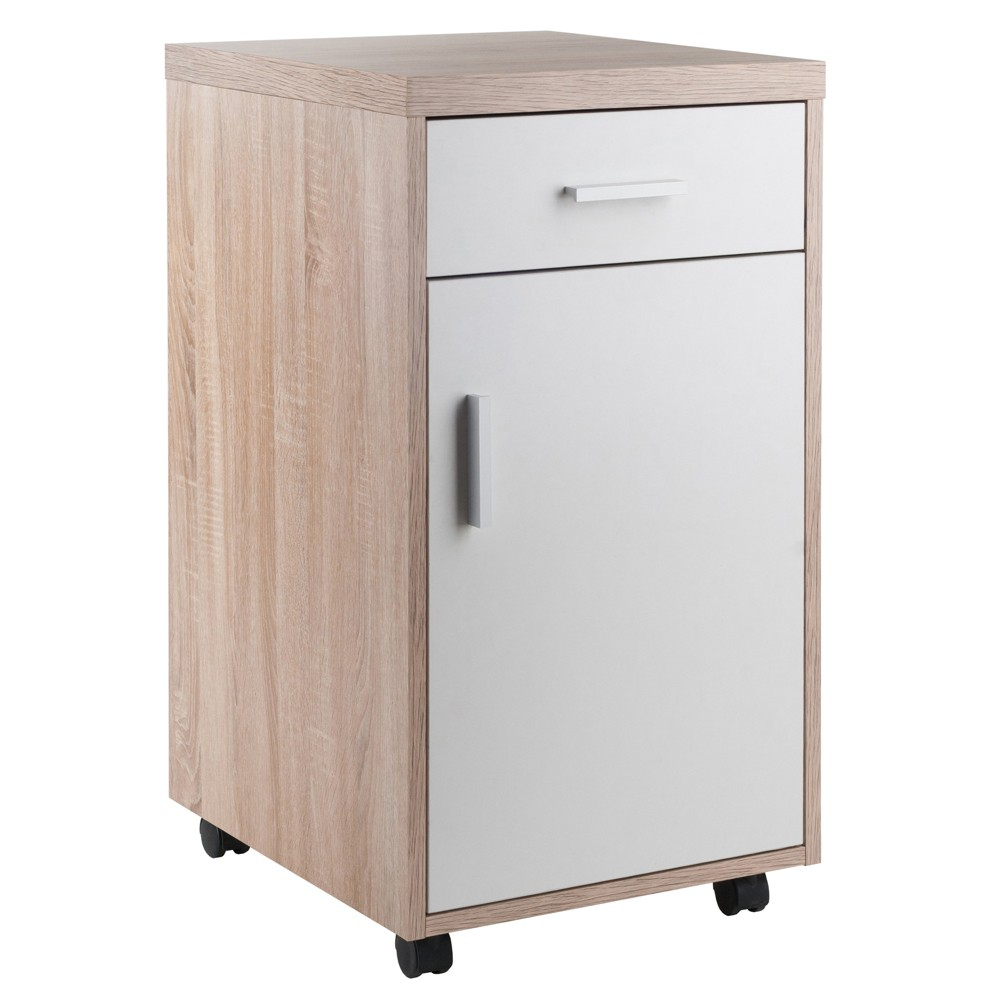 Kenner Mobile Storage Cabinet Wood - Winsome
