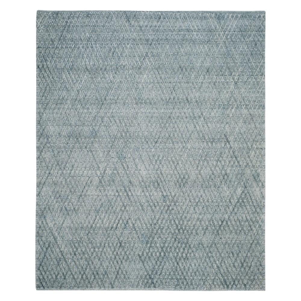 8'X10' Geometric Area Rug Indigo - Safavieh, Blue