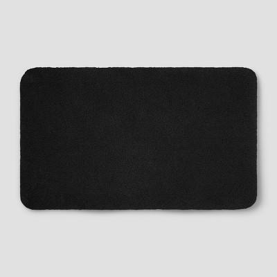Perfectly Soft Nylon Solid Bath Rug Black - Opalhouse™