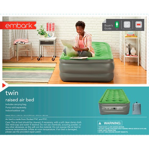 double twin air mattress Double High Raised Twin Air Mattress   Embark™ : Target double twin air mattress