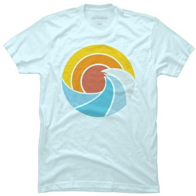 Ocean Sunset Mens Graphic T-Shirt - Design By Humans