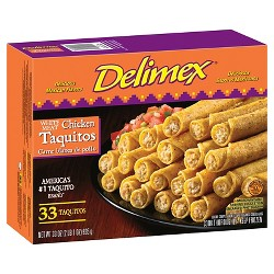 Delimex Chicken Frozen Taquitos - 33oz