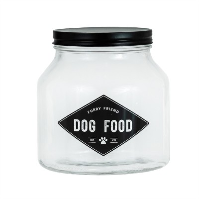 Amici Pet Dog Food Glass Canister, Small, 76oz