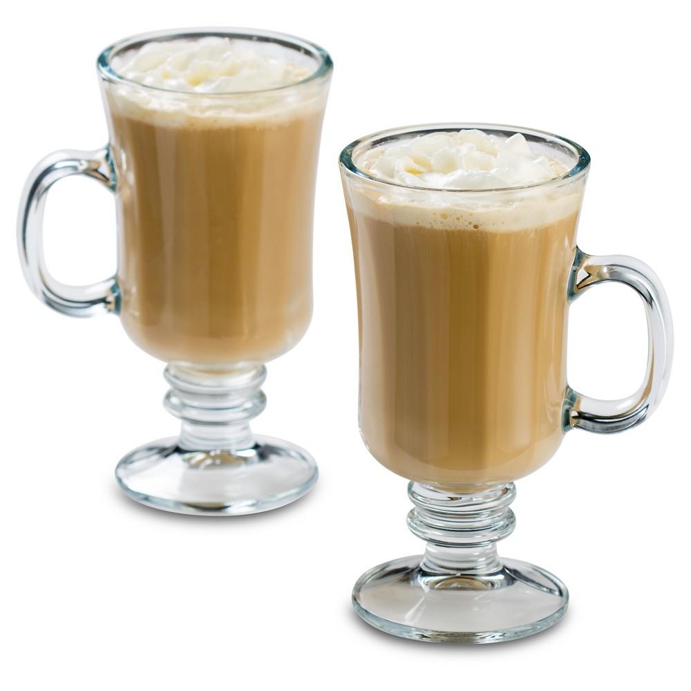 Image of Libbey 8oz Milan Irish Coffee Glass Mug 4pk Set, Clear