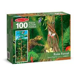 Melissa & Doug Rainforest Jumbo Jigsaw Floor Puzzle 100pc