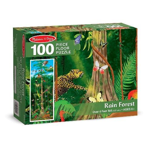 Melissa & Doug Rainforest Jumbo Jigsaw Floor Puzzle 100pc - image 1 of 3