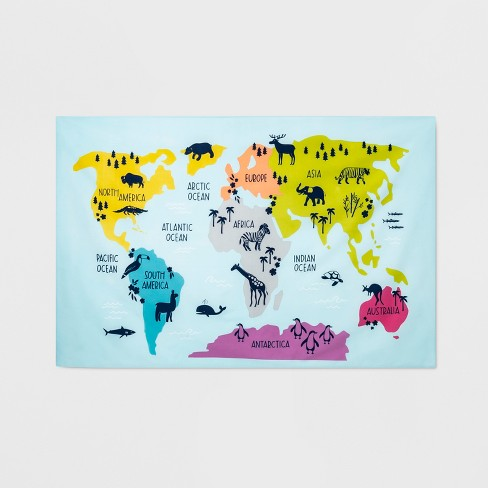 The Picture Of The World Map.World Map Tapestry Pillowfort