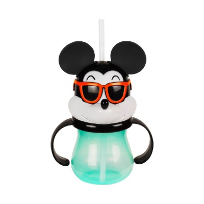 Mickey Mouse & Friends Mickey Mouse Plastic Sippy Cup With Straw 10oz - Green/Black