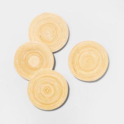 4pk Bamboo Spun Coasters Blue - Opalhouse™