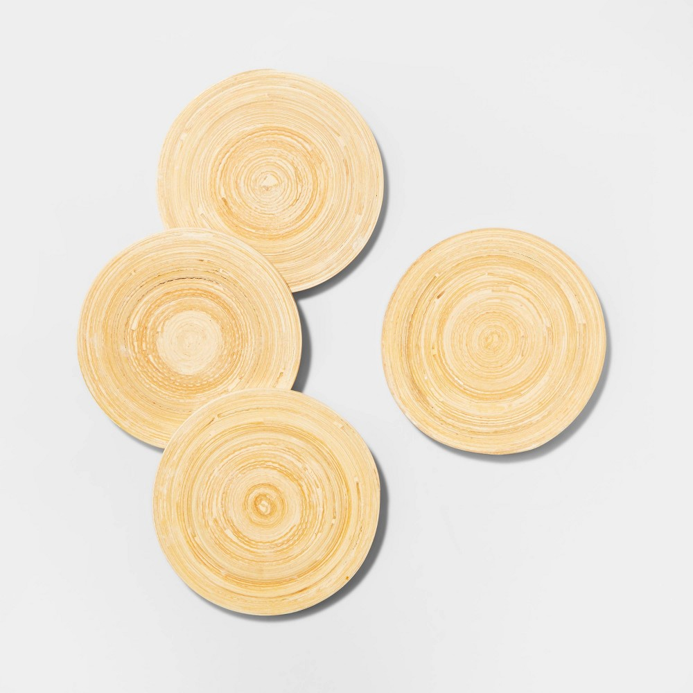 Image of 4pk Bamboo Spun Coasters Blue - Opalhouse