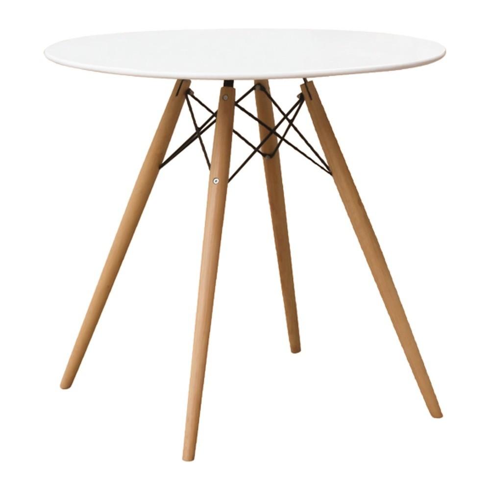 WoodLeg Dining Table 29 Fiberglass Top - White - Fine Mod Imports