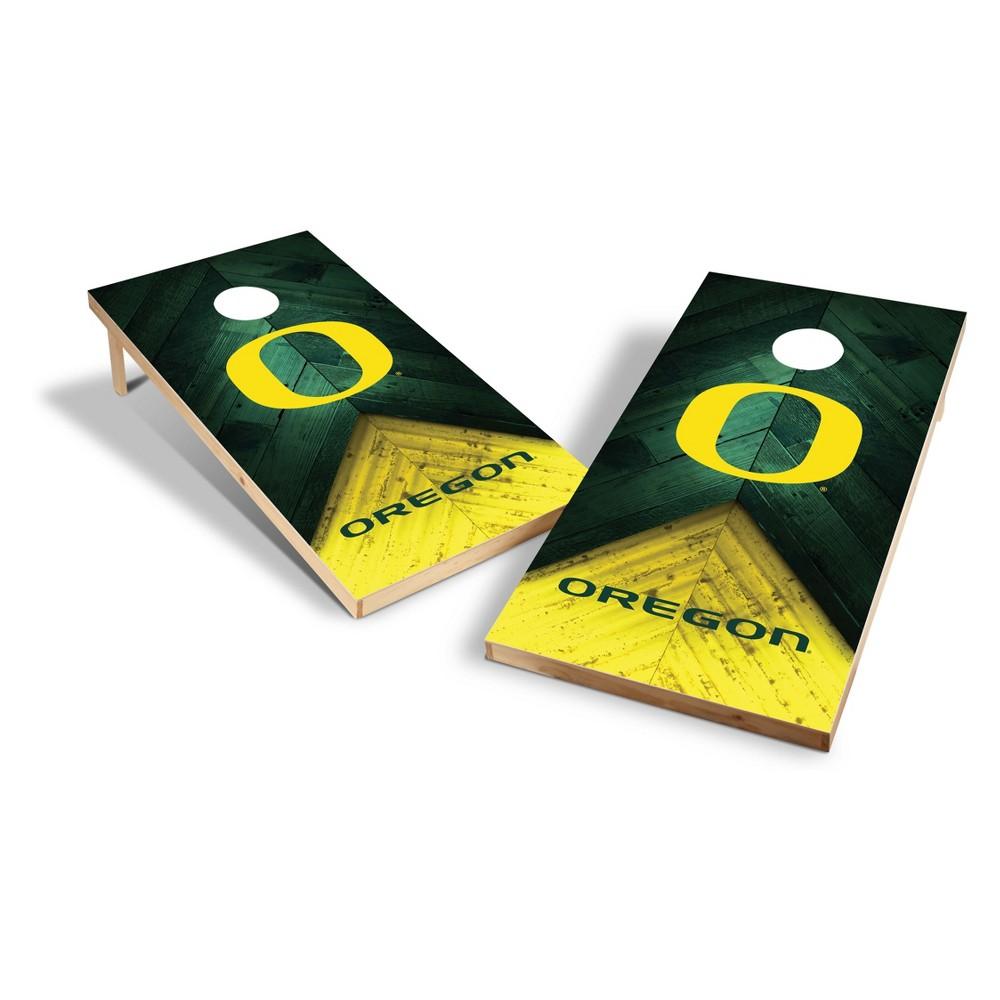 NCAA Oregon Ducks 2x4ft Tailgate Toss Cornhole Game