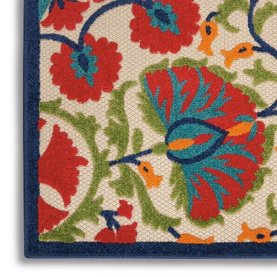 Nourison Aloha ALH20 Red/Green/White Indoor/Outdoor Area Rug : Target