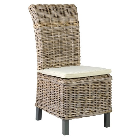 Set of 2 Stigler Rattan Dining Chair Brown - East At Main - image 1 of 4