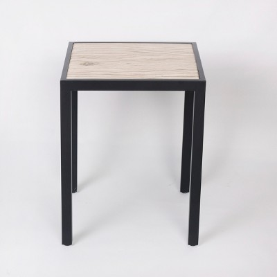 Faux Wood Accent Table - Brown - Threshold™