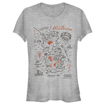 Junior's Game of Thrones Westeros Map T-Shirt