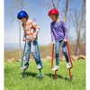 """HearthSong Adjustable Ergonomic Amazing Feats Kids Stilts with Treaded Foot Rests, Arced Feet, and Foam Handles, Adjusts 51""""-79"""", Holds Up To 250 Lbs. - image 3 of 4"""