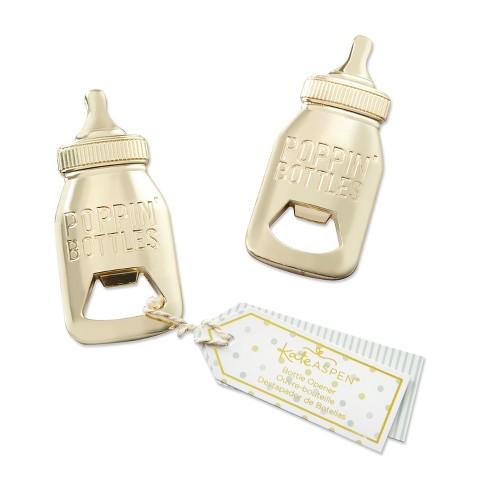 12ct Baby Bottle Shaped Bottle Opener Gold - image 1 of 4