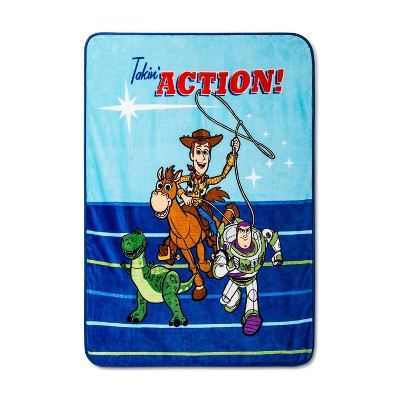 "Toy Story 4 46""x60"" Throw Blanket Blue"