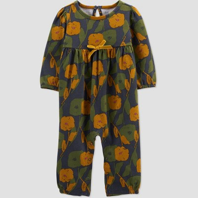 Baby Girls' Floral Jumpsuit - Just One You® made by carter's Olive