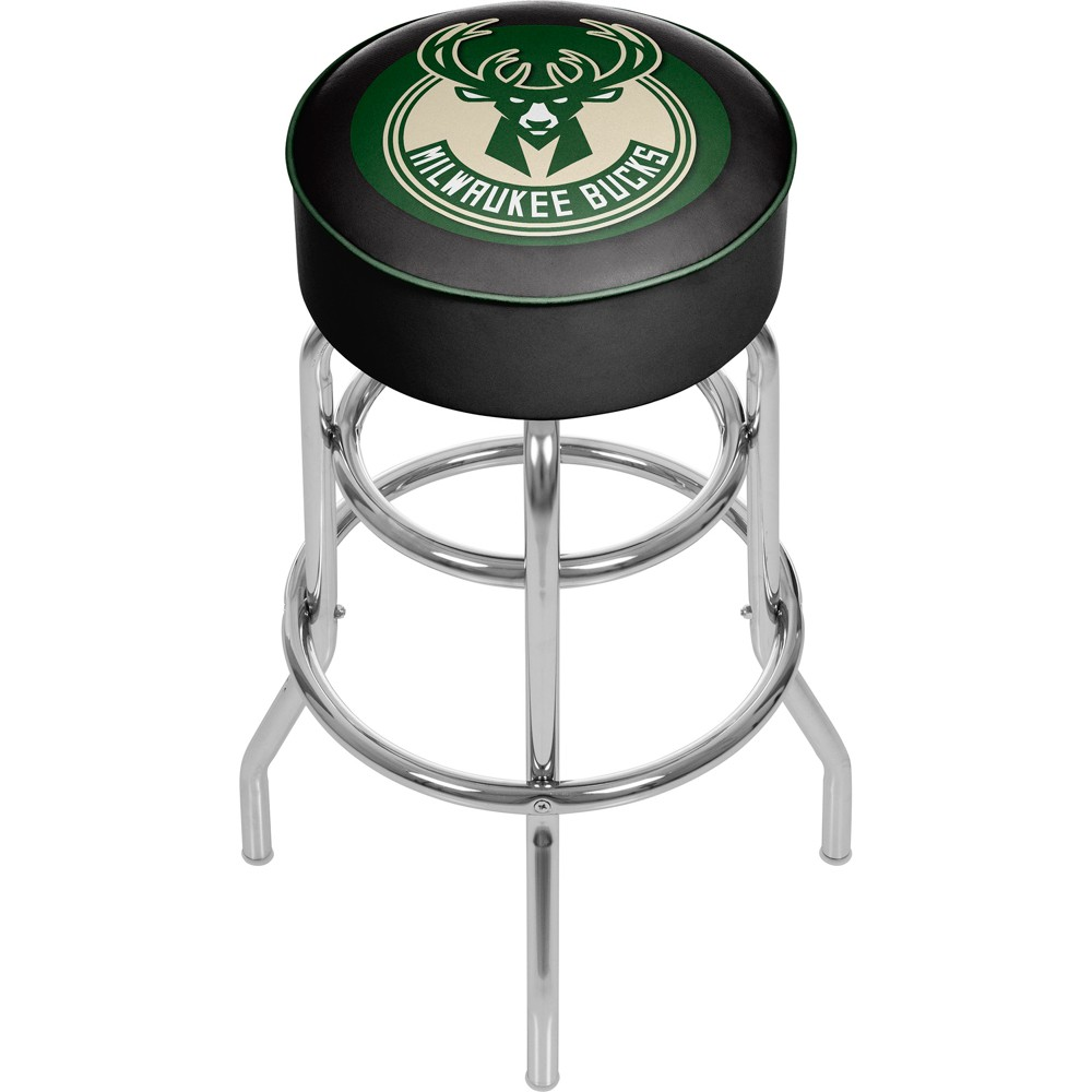 Milwaukee Bucks Hardwood Classics Bar Stool with Back