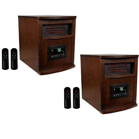 LifeSmart LifePro 6 Element 1500W Portable Infrared Quartz Space Heaters (Pair) - image 1 of 4
