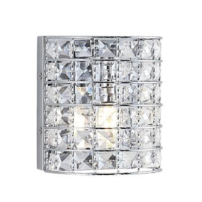 LED Light Metal/Crystal Clara Deco Classic Glam Pendent Chrome - JONATHAN Y