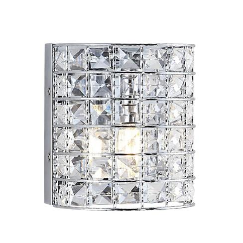 LED Light Metal/Crystal Clara Deco Classic Glam Pendent Chrome - JONATHAN Y - image 1 of 4
