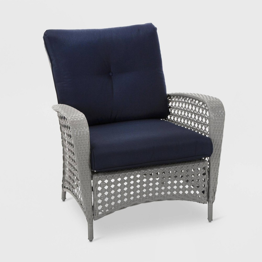 Outstanding Lakewood Ranch 2Pk Steel Woven Wicker Patio Lounge Chairs Dailytribune Chair Design For Home Dailytribuneorg