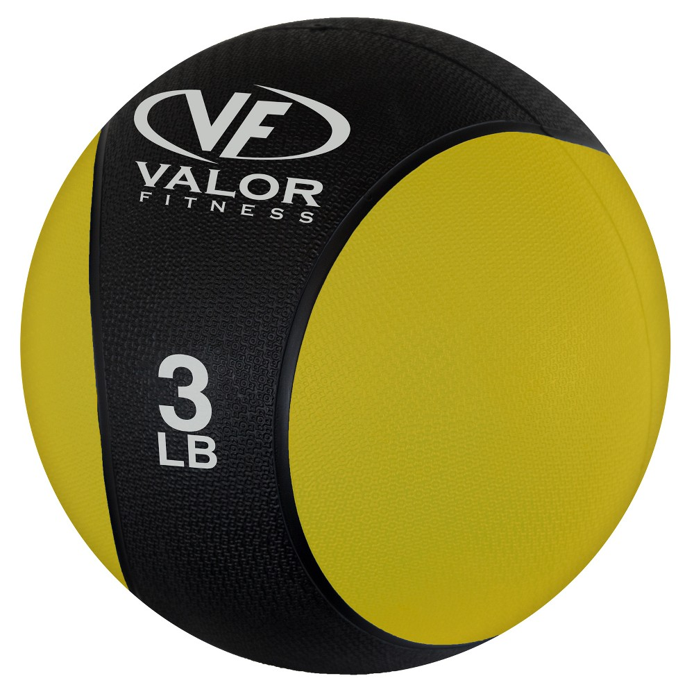 Valor Fitness Rxm-3 Medicine Ball - 3lb, Black