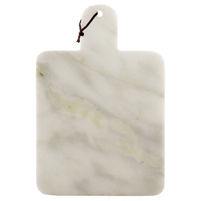 Thirstystone Large White Marble Paddle Serving Board