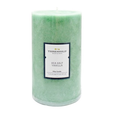 7  x 4  Mottled Pillar Candle Sea Salt Vanilla - Threshold™