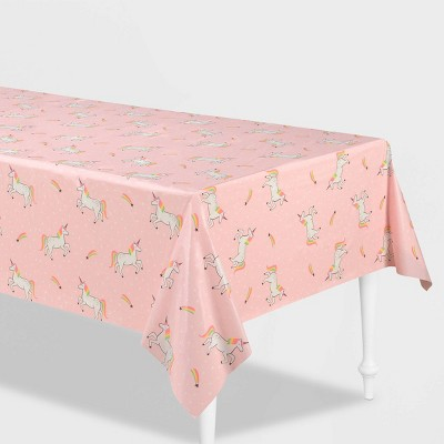 "54"" x 84"" Unicorn Printed Plastic table Cover - Spritz™"