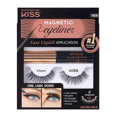 Kiss Magnetic Eyeliner False Eyelash Starter Kit - Charm