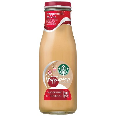 Starbucks Frappuccino Peppermint Mocha Coffee Drink - 13.7 fl oz Glass Bottle