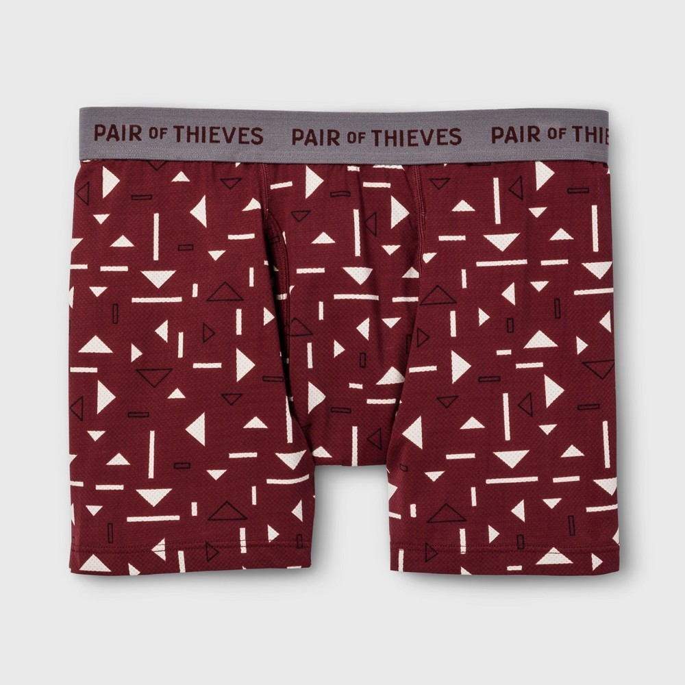 Pair of Thieves Men's SuperFit Boxer Briefs - Red XL, Men's was $12.99 now $9.09 (30.0% off)
