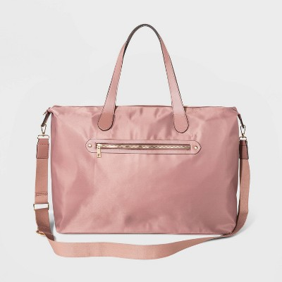 Zip Closure Weekender Bag - A New Day™ Rose