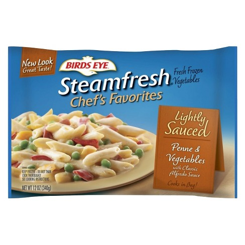 Birds Eye Steamfresh Lightly Sauced Frozen Penne Pasta & Vegetables with Alfredo Sauce - 12oz - image 1 of 1