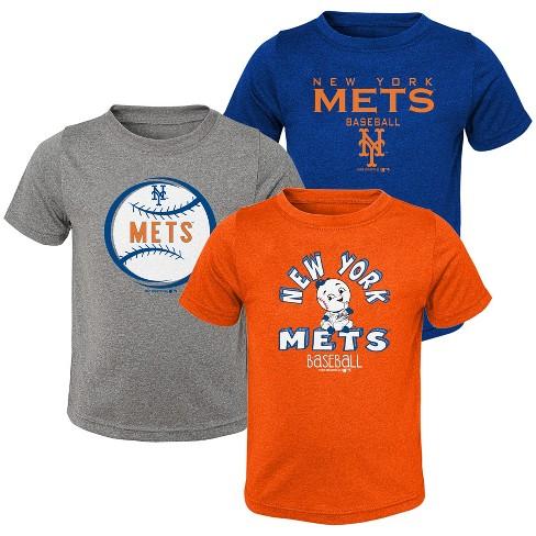 MLB New York Mets Toddler Boys' Gray T-Shirt 3pk - image 1 of 4
