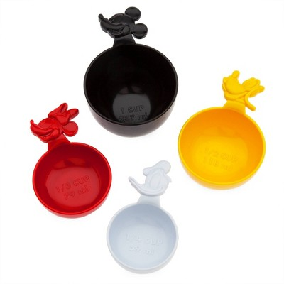 Mickey Mouse & Friends 4pc Plastic Measuring Cup Set - Disney store